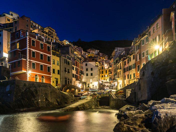 Riomaggiore bei Nacht, Cinque Terre