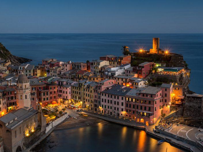 Vernazza bei Nacht, Cinque Terre
