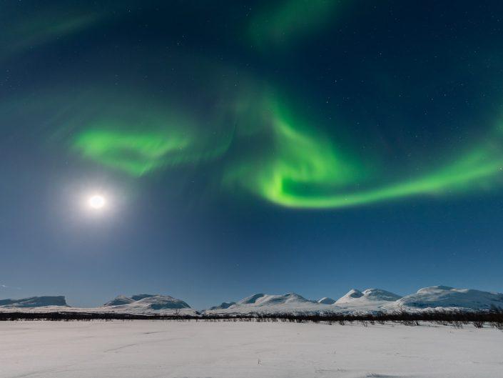 Nordlicht im Abisko Nationalpark, Schweden