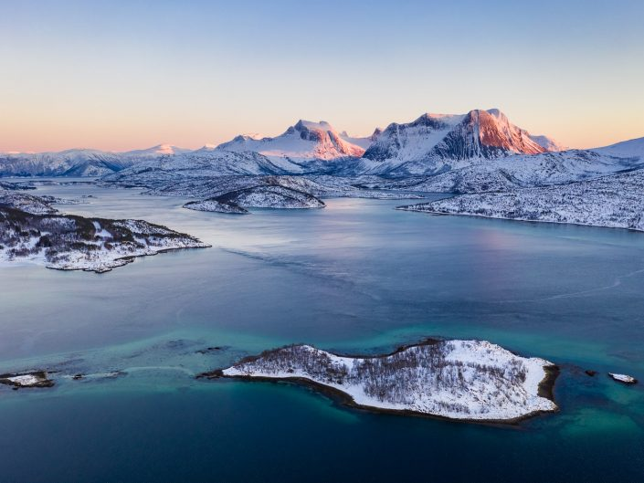 Luftaufnahme Efjord, Ofoten, Norwegen
