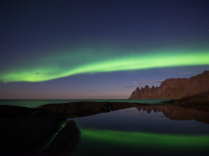 Nordlicht in Senja, Norwegen