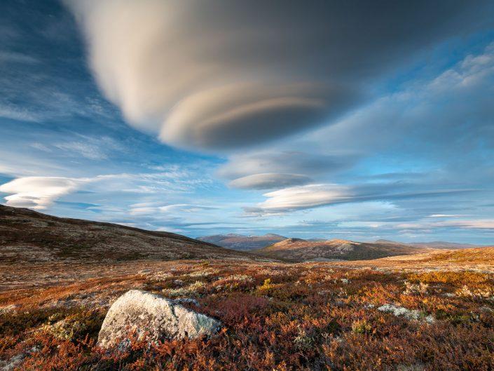 Landschaft im Dovrefjell Nationalpark, Herbst, Norwegen