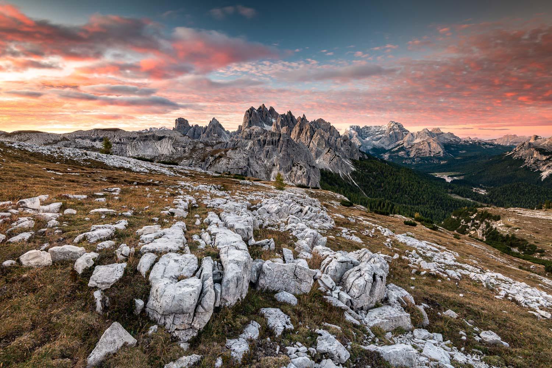 Dolomiten bei Sonnenaufgang