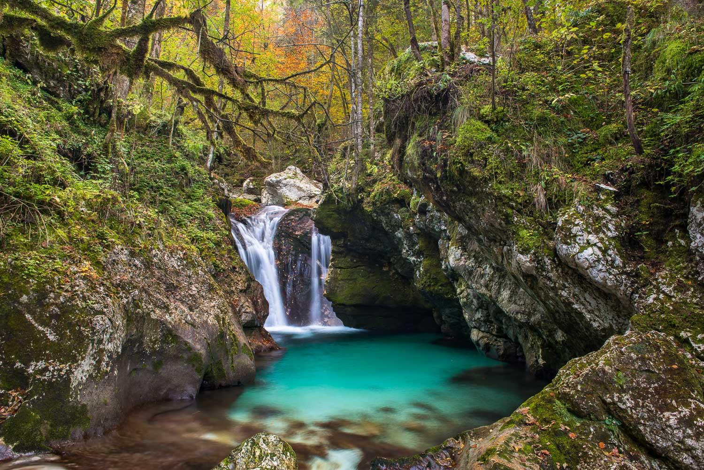Wasserfall im Socatal