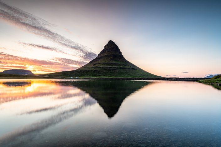 Berg Kirkjufell, Snaefellsnes, Island