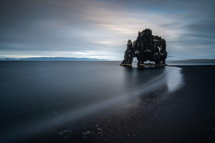 Felsstruktur Hvitserkur, Island