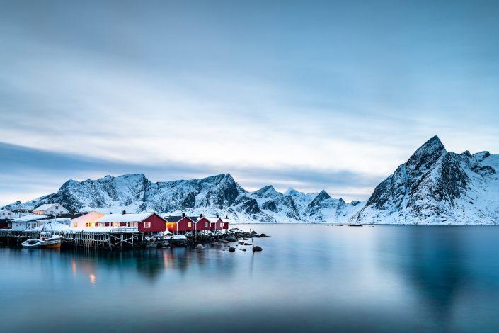 Rorbuer Hütten von Hamnoy, Lofoten, Norwegen