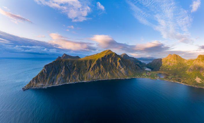 Luftaufnahme Lofoten, Norwegen