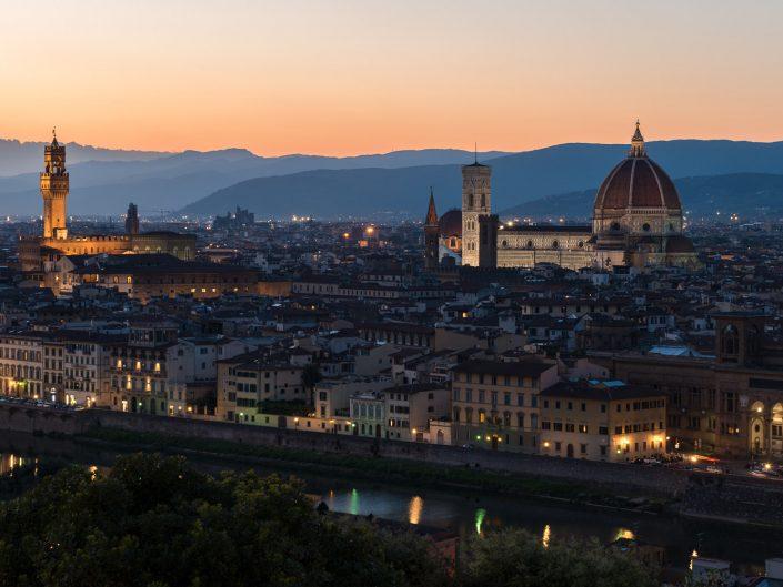 Florenz bei Nacht, Italien