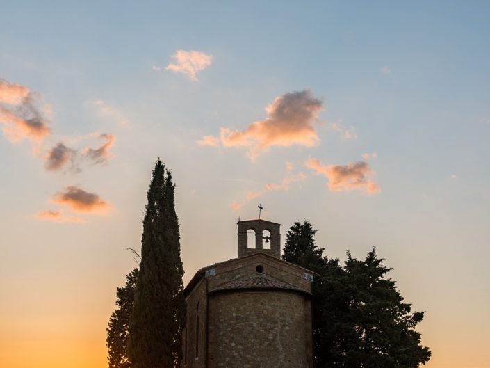 Cappella della Madonna di Vitaleta, Toskana, Italien