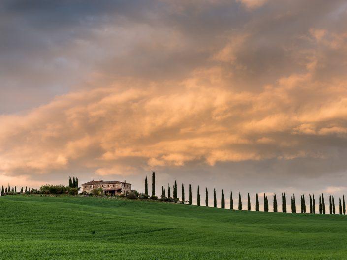 Landgut mit Zypressenalle, Toskana, Italien