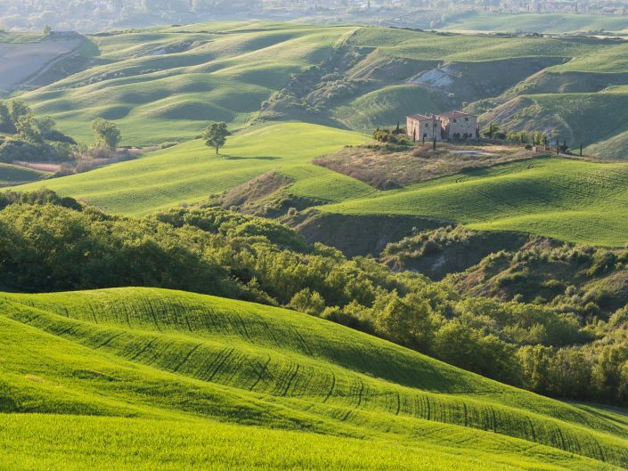 Hügelige Landschaft, Toskana, Italien